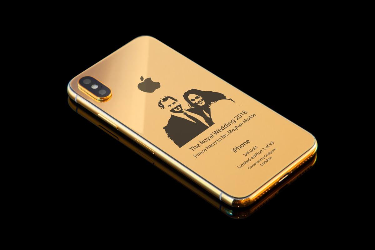 Un iPhone X en or pour le mariage royal anglais