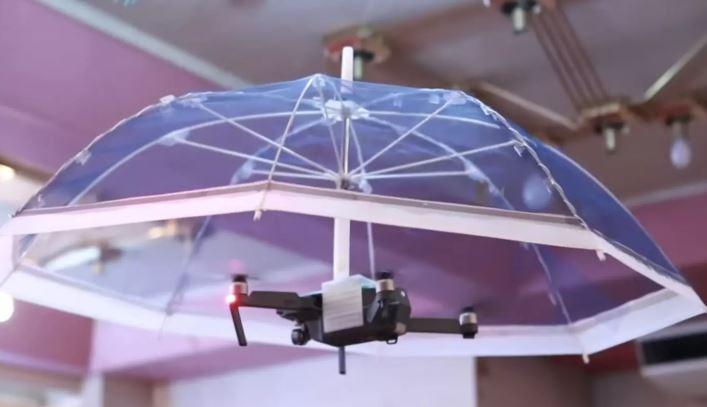 Drone Free Parasol, un parapluie et parasol volant