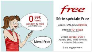 Free Mobile : le forfait 50 Go est à 0.99 euro par mois sur Vente Privée !