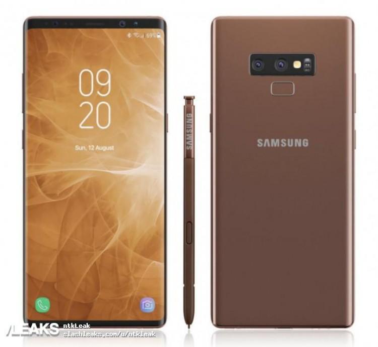Le Samsung Galaxy Note 9 apparaît dans de nouveaux rendus !