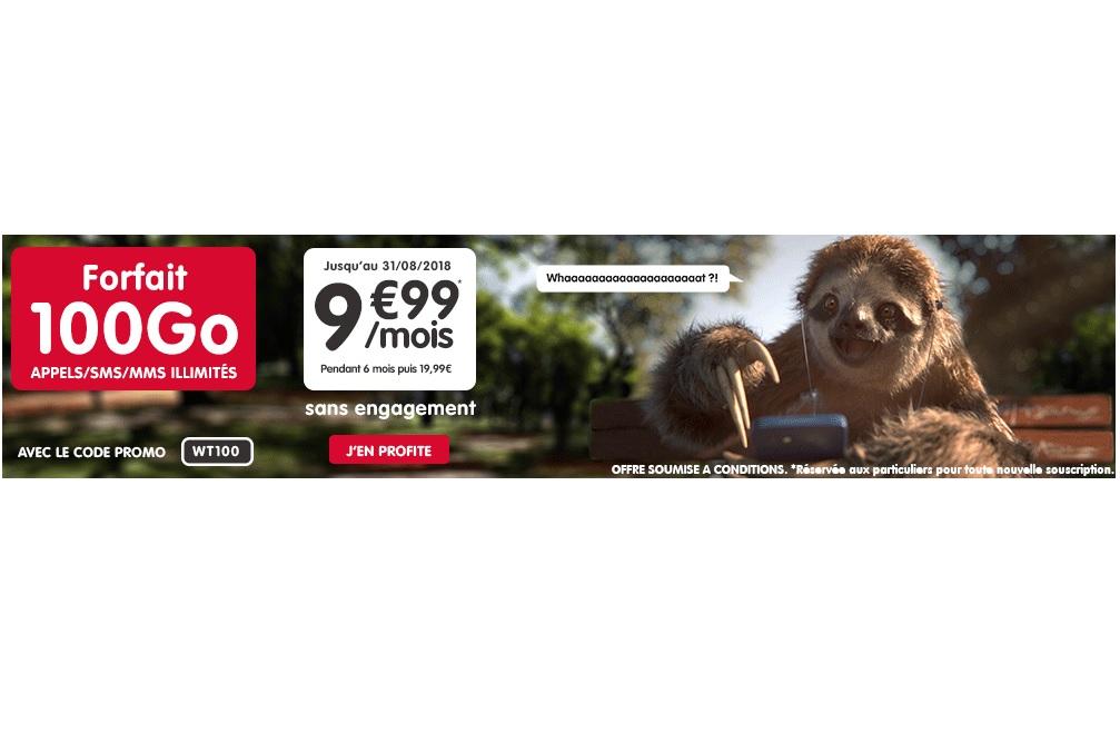 Le forfait 100 Go de NRJ Mobile à 9.99 euros est toujours d'actualité !