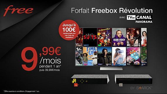 Vente Privée : la Freebox Revolution avec TV by Canal passe à 9.99 euros !