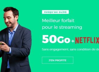 RED by SFR propose un forfait 50 Go avec Netflix