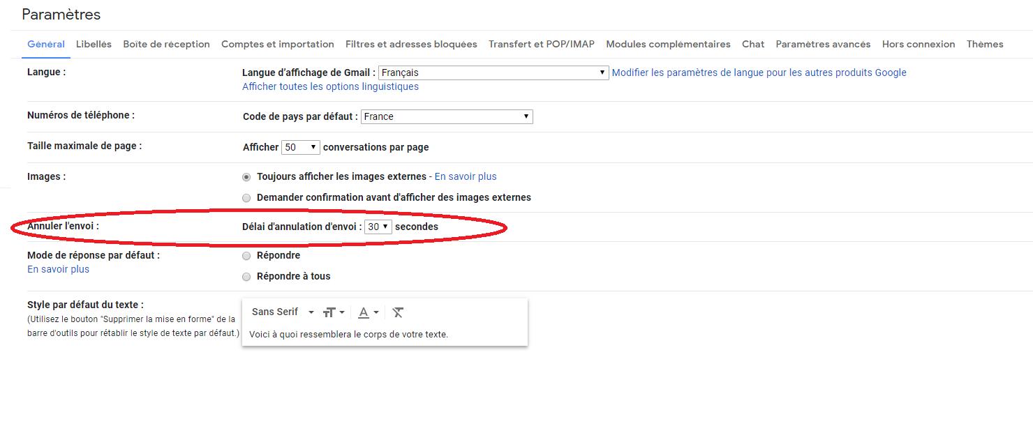 Gmail : vous pouvez annuler un message déjà envoyé