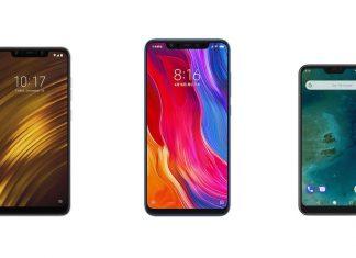 Pocophone F1, Xiaomi Mi 8 et Xiaomi Mi A2 Lite