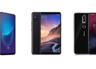 Vivo Nex, Xiaomi Mi Max 3 et Nokia X6