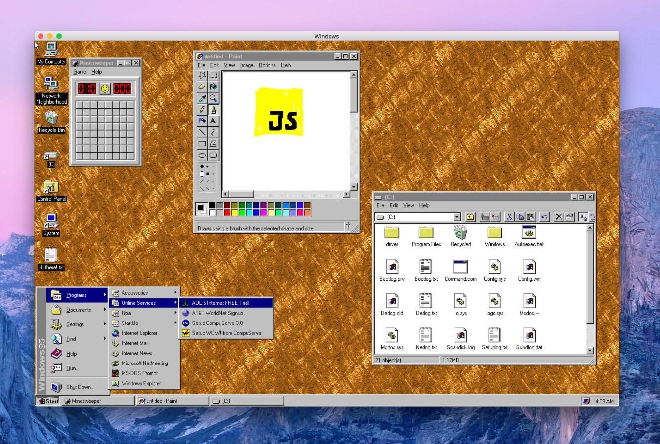 Windows 95 est de retour sur vos appareils