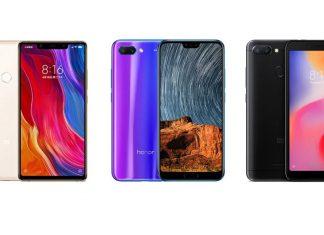 Xiaomi Mi 8 SE, Honor 10 et Xiaomi Redmi 6