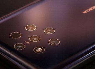 Un rendu du Nokia 9 et de ses 5 capteurs photo