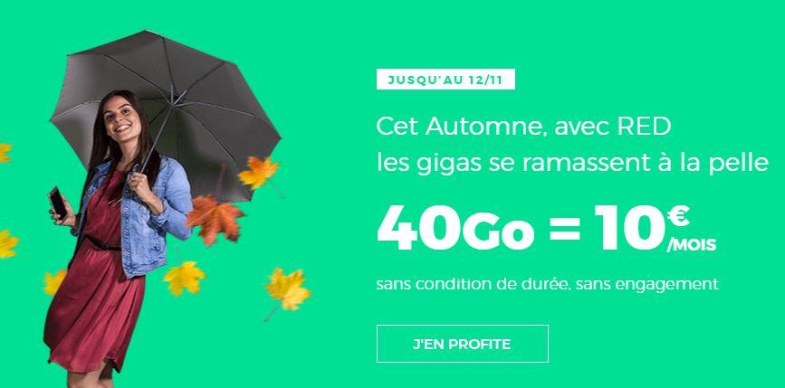 Les forfaits RED by SFR 40 Go et 60 Go continuent d'être à 10 et 15 euros !