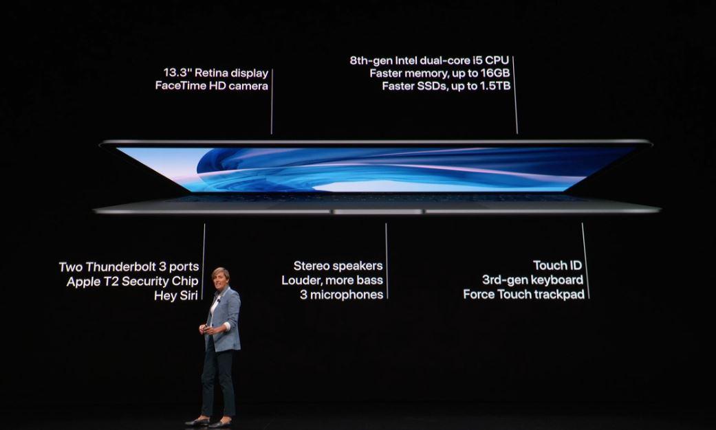 Les specs du MacBook Air 2018