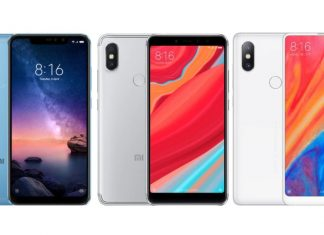 Xiaomi Redmi Note 6 Pro, Redmi S2 et Mi Mix 2S