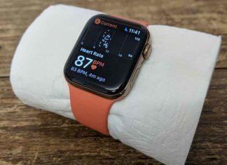 L'Apple Watch capable de calculer le rythme cardiaque d'un papier toilette
