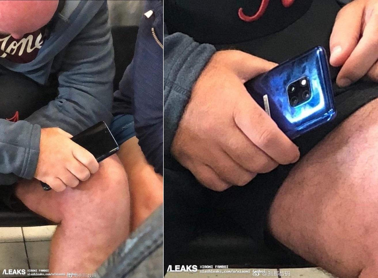 Le futur Huawei Mate 20 Pro aperçu dans un métro
