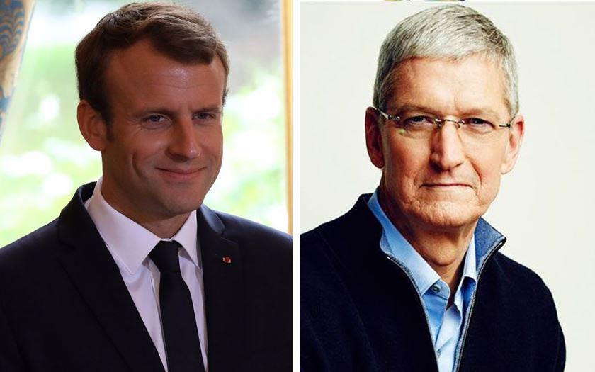 Tim Cook sera reçu par Emmanuel Macron à l'Élysée le 23 octobre prochain