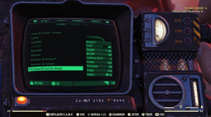Fallout 76 : savoir gérer son inventaire est l'une des clés pour survivre