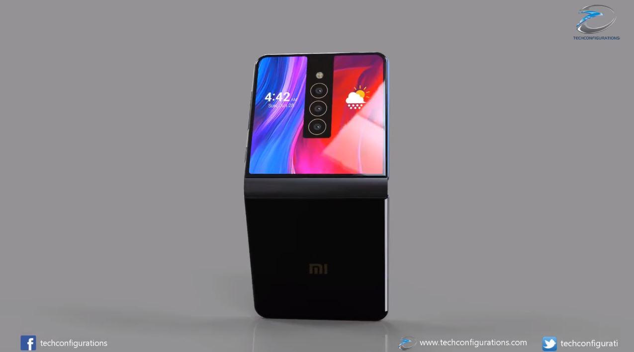 Xiaomi Mi Mix Flex : un smartphone pliable ressemblant à une Game Boy Advance SP