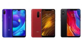 Xiaomi Mi Play, Pocophone F1 et Xiaomi Mi 8