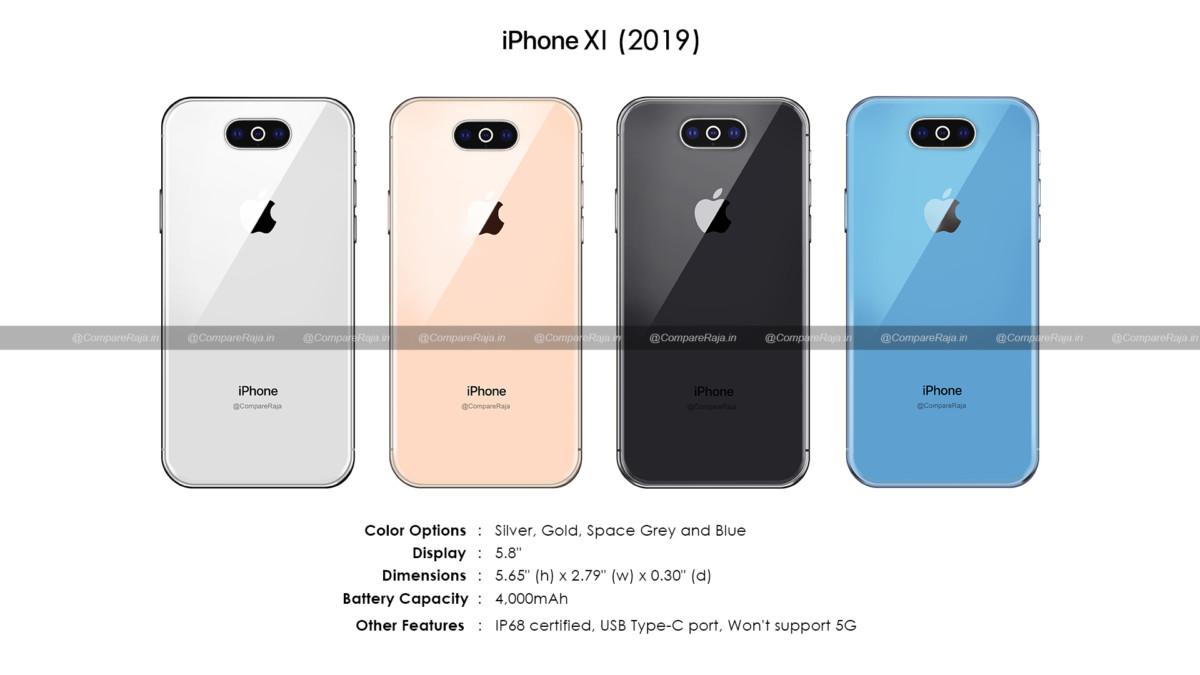 Premières fuites sur l'iPhone 11 de 5.8 pouces