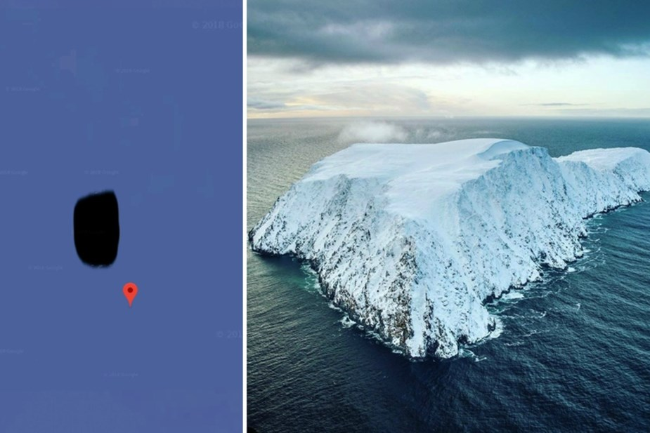 Google Maps : l'île Jeannette cachée sans raison apparente