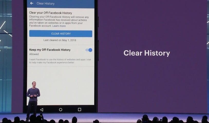 Facebook : l'outil « clear history » débarquera cette année