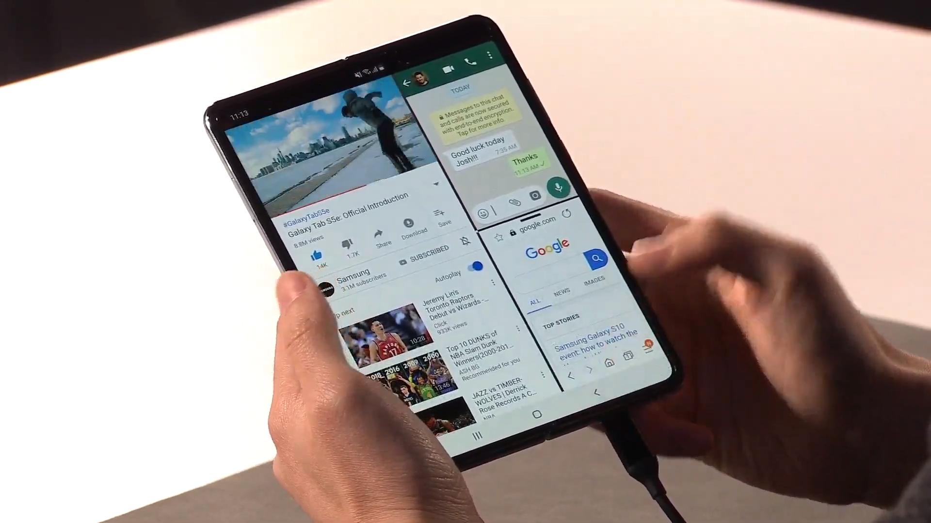 Le Samsung Galaxy Fold testé et déjà cassé !
