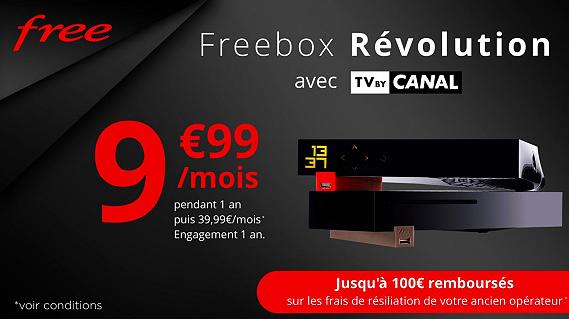 Vente Privée : Freebox Revolution + TV by Canal à moins de 10 euros !