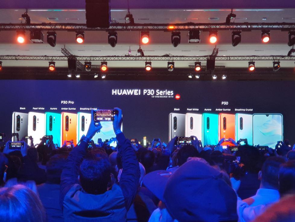 Les différents coloris des Huawei P30 et P30 Pro