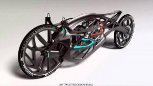 Une moto imprimée en 3D présentée lors du Salon du 2 roues à Lyon