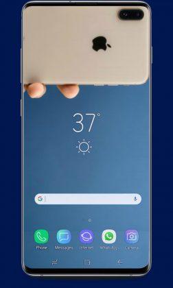 Fond d'écran iPhone X pour Samsung Galaxy S10 Plus
